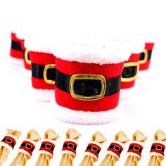 Barato 4 Pcs de Natal de Decoração Para Casa Suprimentos Fivela de Cinto Pacote de Anéis de Guardanapo Guardanapo Capa Natal Papai Noel Conjuntos de Tampa FHJ328, Compro Qualidade Natal diretamente de fornecedores da China:                                                                                                    Creative Kitchen Is M