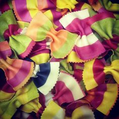 Sweet bow pasta shapes