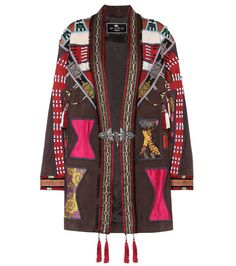Etro - Embellished leather jacket - Etro brilliantly combines bohemian motives with contemporary practicality in this colourful jacket, crafted from leather and trimmed with silk. The style comes with tassels and is adorned with geometric patterns that evoke the 1970s style. Emulate the runway look, teaming yours with high leather boots. seen @ www.mytheresa.com