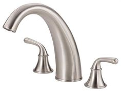 Buy the Danze Brushed Nickel Direct. Shop for the Danze Brushed Nickel Deck Mounted Roman Tub Filler Trim From the Bannockburn Collection and save. Roman Tub Faucets, Toilet Storage, Bathroom Fixtures, Building Materials, Brushed Nickel, Master Bathroom, Sink, Hardware, Home