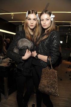 Julija Steponaviciute and Aiste Regina Kliveckaite #fashion #models #backstage