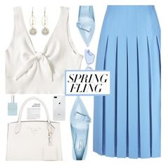 """""""Spring fling ( TFS Easter Sunday )"""" by floralandmay ❤ liked on Polyvore featuring Victoria Beckham, Prada, CLEAN and Spring"""