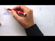 Matematik 6 - Omvandling mellan bråkform och decimalform - YouTube Matte Material, Youtube, Youtubers, Youtube Movies