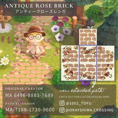 Animal Crossing 3ds, Petunias, Motif Acnl, Ac New Leaf, Motifs Animal, Path Design, Antique Roses, Nintendo, Creations