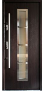 """Madrid"" - Modern Entry Door in Wenge Finish"
