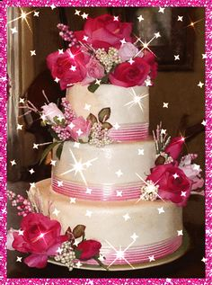 beautiful   glitter cakes gifs | ... glitter graphics greetings and graphics happy birthday glitter