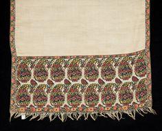 Silk and wool shawl 1800-10 National Trust. Nancy Bradfield p115
