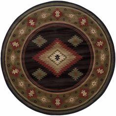 Hudson Black Green Southwest/Lodge Transitional Rug
