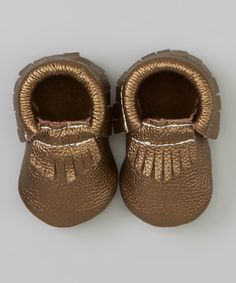 Copper Leather Moccasin