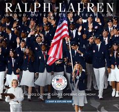 Let The Games Begin!  Ralph Lauren and the United States Olympic Team.