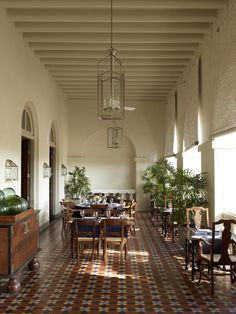 They are keen for the colonial bar theme, often tile and patterns. Amangalla | The Aman Resort | Anglo Indian