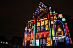 Lille - Projection sur ND de la Treille - Oct.12