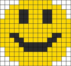 Smiley Face Perler Bead Pattern / Bead Sprite