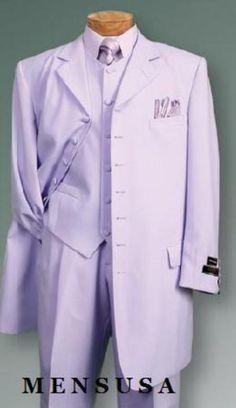 Lavender Suit | SKU# 427 Lavender SUIT 3PC FASHION ZOOT WITH VEST Cover Buttons Comes ...