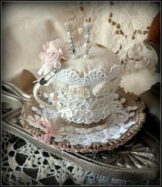 lace cup - my shabby white home