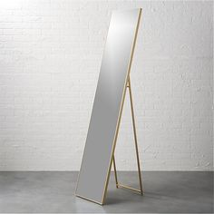 """Shop infinity 16""""x69"""" standing floor mirror.   Mirror image without bounds framed thin, trim and exact in pure extruded aluminum.  Resists corrosion to work bath, too."""