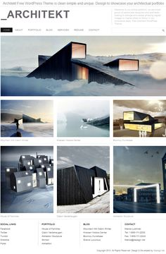 Architekt Theme    Architekt Free WordPress Theme is clean simple and unique. Design to showcase your architectural portfolio This theme was inspired by the works of Fantastic Norway