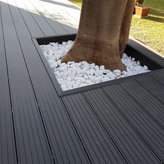 grey hot sale wpc floor, composite or pressure treated decking material - composite decking Back Garden Design, Modern Garden Design, Backyard Garden Design, Patio Deck Designs, Patio Design, Back Garden Landscaping, Outside Flooring, Plastic Decking, Deck Planters