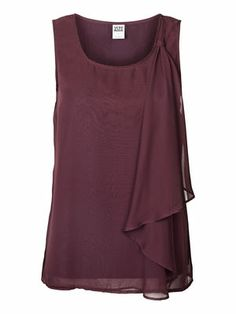 OPEY PLAIN S/L TOP, Plum Perfect, main