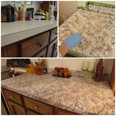 How to Paint ANY Countertops To Look Like Granite – Page 2 – DIY CREATED