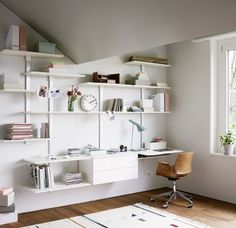 Home Office Bookshelves Smart Homes Video Architecture Can Design, Wood Design, Office Bookshelves, Smart Home Control, Shelf System, Home Office Storage, Home Camera, Storage Shelves, Furniture Design