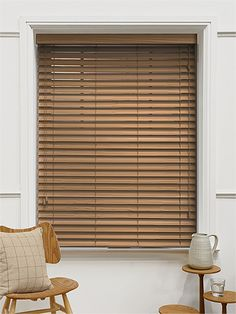 Majestic Oak Faux Wood Blind   50mm Slat From Blinds 2go   For The Windows  Looking