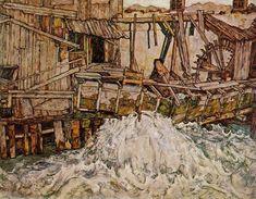 Egon Schiele, Il mulino - The Mill (1916).