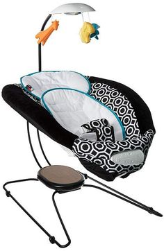 Fisher Price - Delux Bouncer By Jonathan Adler Carriers Travel afflink Baby Bouncer Seat, Best Baby Bouncer, Baby Swings And Bouncers, New Grandparents, Cushions To Make, Jonathan Adler, Baby Shop, Fisher Price, Travel With Kids