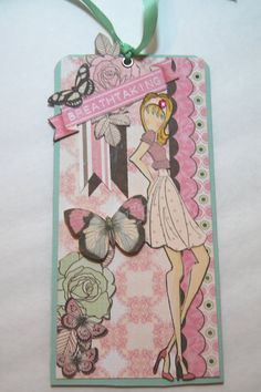 Prima Doll Stamp Tag Breathtaking Handmade Paper by Smiles4Paper