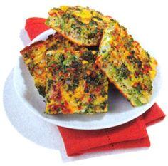 Tortilla de brócoli   (brócoli, huevos, aceite de oliva, queso rallado, nuez moscada, sal, pimienta)