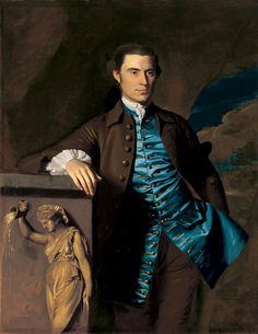 Thaddeus Burr by John Singleton Copley (1738 – 1815)  I just LOVE how the waistcoat has been painted...so lifelike.