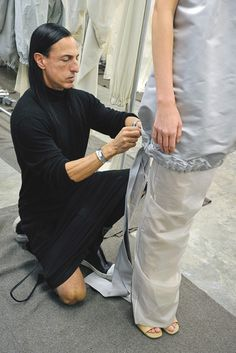 A look behind the scenes of Rick Owens RTW Spring 2013.