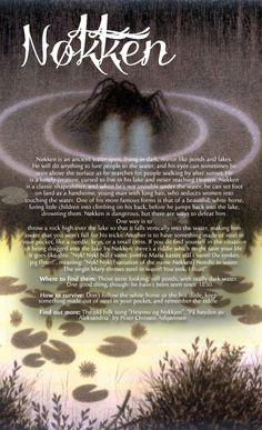 "wintherharlekin: "" Scandinavian folklore (special focus on Norway) Pictures: Nøkken, Valemon, and Draugen by Theodor Kittelsen Dragon, Huldra, Trolls, Elves, (first picture), by John Bauer Fossegrimen..."
