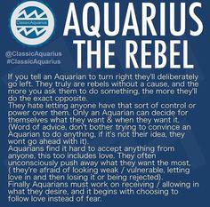 Aquarius the rebel Capricorn Aquarius Cusp, Aquarius Tattoo, Aquarius Traits, Aquarius Quotes, Aquarius Woman, Capricorn And Aquarius, Zodiac Signs Aquarius, Aquarius Qualities, Aquarius Lover