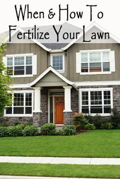 Fertilizing is so important and a key element to having good grass. Fertilizing should be done 4 times per year. When 1.Once in the early spring. (Feb-Apr)This is also a good time to aerate your lawn. This removes little chunks of dirt, it allows the air to circulate in the ground
