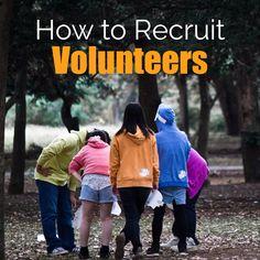 How to Recruit Volunteers - 9 Ways to Improve Volunteer Recruitment Nonprofit Fundraising, Fundraising Events, Teen Volunteer, Church Fundraisers, Volunteer Management, Grant Writing, Leadership Development, Community Events, Pta