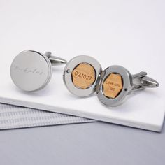 Select Gifts Heart Playing Card Number 4 Gold-Tone Cufflinks Black Pouch