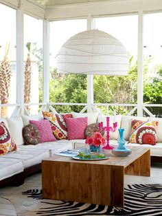 Happy pillows outdoor room