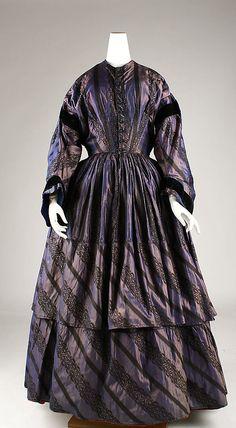Afternoon dress    Date:      1845–55  Culture:      American  Medium:      silk