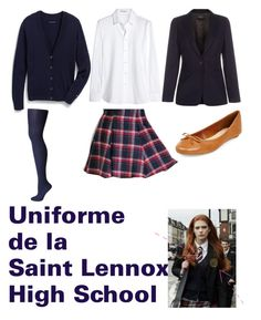 """""""Uniforme de la Saint Lennox High School"""" by clothilde-chapel ❤ liked on Polyvore featuring Yves Saint Laurent, Paul Smith, Sperry Top-Sider, Tokyo Fashion and Tommy Hilfiger"""
