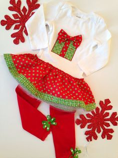Holiday dress with leggings Christmas Dress for by SweetTootsy, $40.00