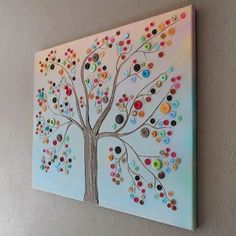Button tree - great way to display Grandma's buttons.