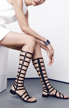 Dare to wear gladiator sandals.