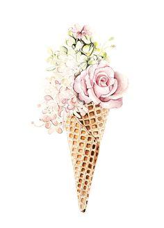 Flower ice-cream