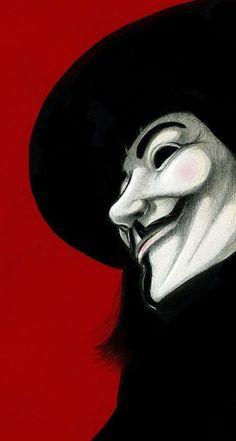 Guy Fawkes, Hacker Wallpaper, Iphone Wallpaper, V For Vendetta Wallpapers, Foto Pop Art, V Pour Vendetta, Red Background, Dark Art, Art Drawings