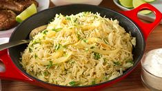 CORIANDER AND LIME RICE - This coriander and lime rice recipe is a simple and delicious accompaniment to any dish. The Knorr chicken stock adds a depth of flavour, whilst the lime and coriander create the refreshing finish. Lime Rice, Rice Recipes, Coriander, Dishes, Chicken, Nice, Create, Cooking, Simple