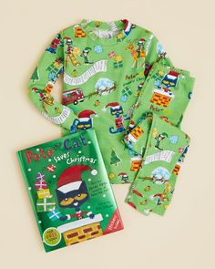 Books to Bed Boys' Pete the Cat Saves Christmas Pajama Set & Book - Sizes 2-6X/7