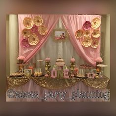 Pink & gold Birthday Party Ideas   Photo 1 of 11   Catch My Party