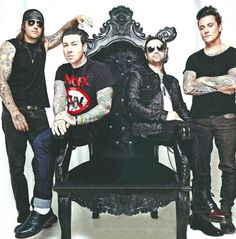 Avenged Sevenfold on the throne lol.