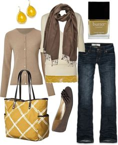 super cute.  I like yellow and taupe way more than yellow and grey.